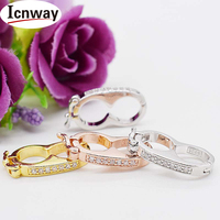 3pcs Rhinestone Inlay Gold Silver Plated Clasp 1 2cm Toggle Clip For DIY Bracelet Necklace Free