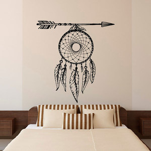 Image 1 - Autocollants muraux en vinyle avec plumes en flèches, style bohème, ZM10