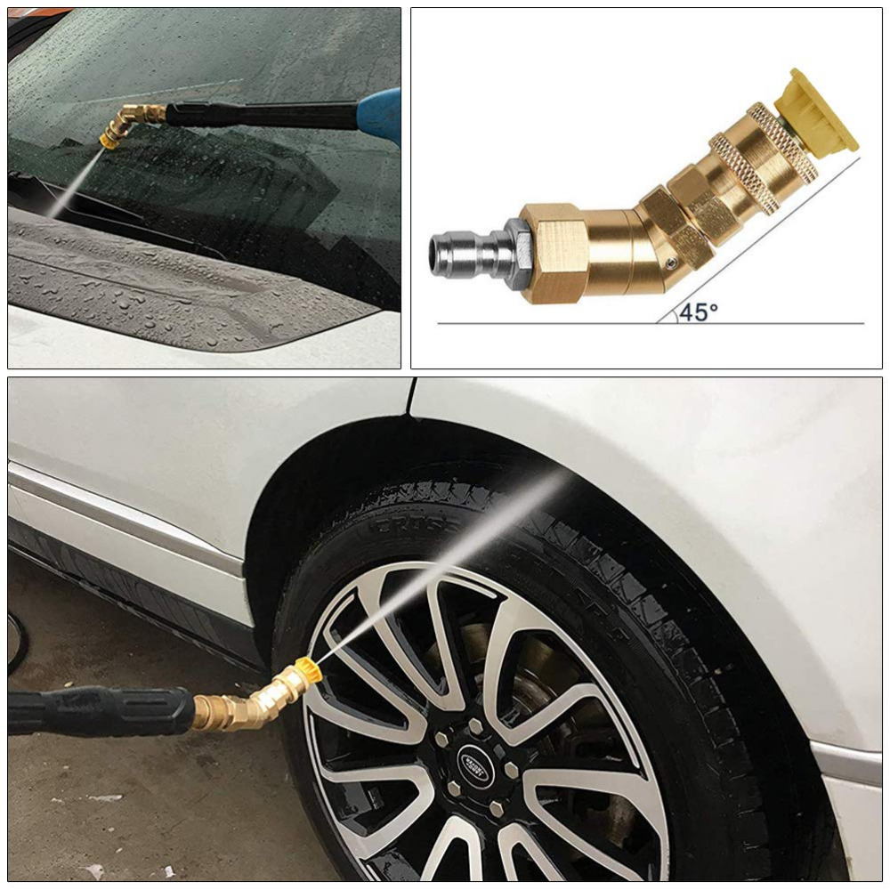 Image 5 - Car Washer Spray Nozzle Tips Multiple Degrees,1/4 inch Quick Connector 5 Packs 3.0 GPM Pivoting Coupler and 7 Spray Nozzle Tips-in Water Gun & Snow Foam Lance from Automobiles & Motorcycles