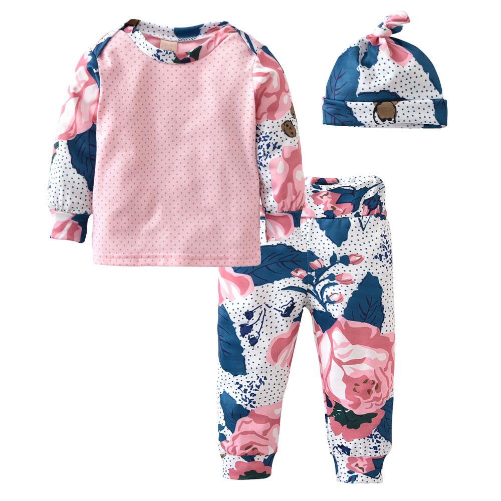 2018 New Fashion Baby Girl Clothes Newborn Long Sleeve -8258