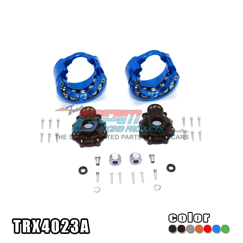 TRAXXAS TRX-4 TRX4 82056-4 Alloy pendulum wheel knuckle axle F/R outer cove+steel ball rolling weight gain ringr+9mm adapter traxxas trx 4 trx4 82056 4 pure copper pendulum wheels knuckle axle rotary type weight 21mm hex adapter set trx4023xx