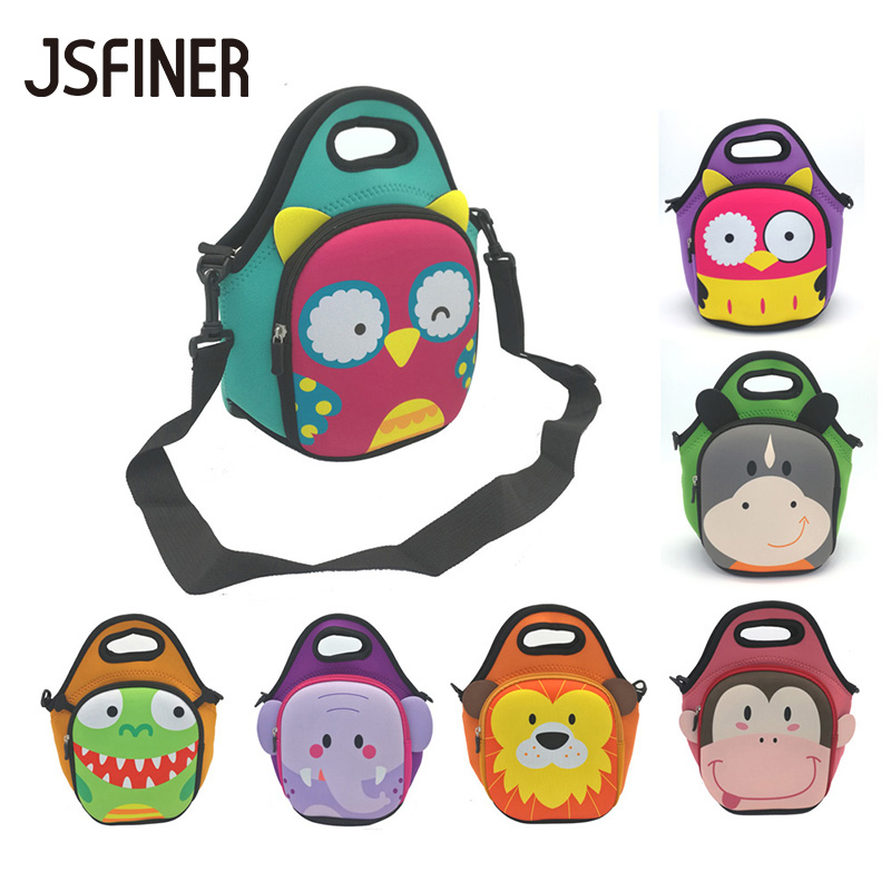 JSFINER Animal Face Pattern Lunch Bags 2 Persons Food Thermal Insulated Waterproof 100% Neoprene Picnic Tableware Lunch BagJSFINER Animal Face Pattern Lunch Bags 2 Persons Food Thermal Insulated Waterproof 100% Neoprene Picnic Tableware Lunch Bag