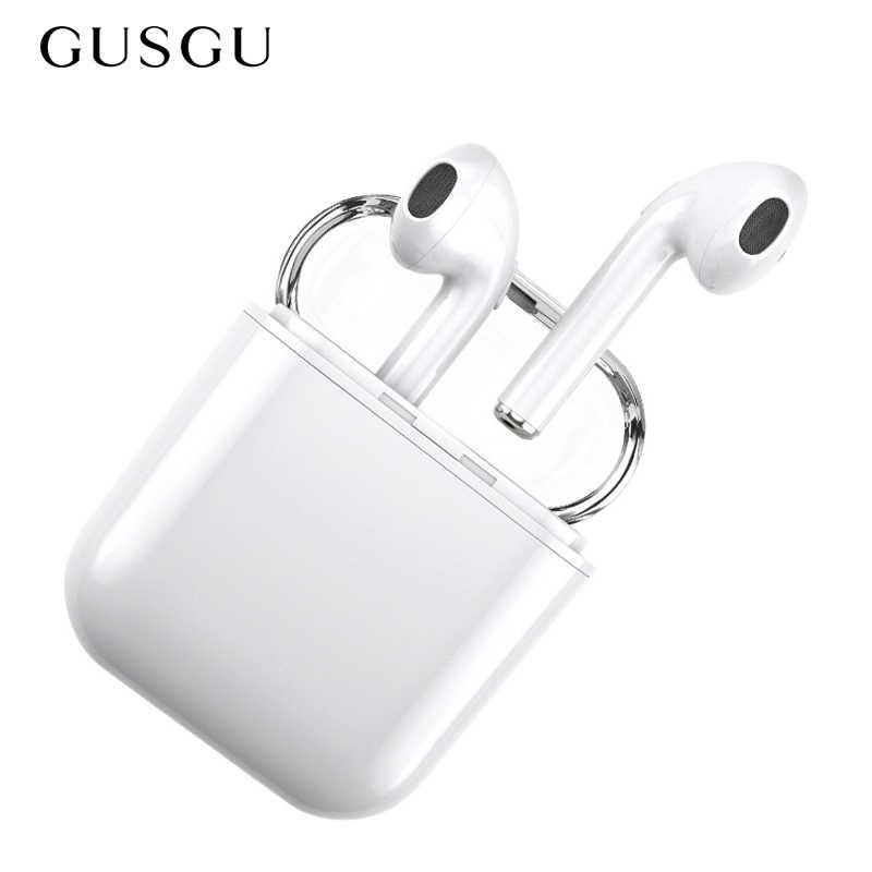 Écouteurs Bluetooth, Mini écouteurs de sport sans fil GUSGU écouteurs stéréo avec suppression de bruit et étui pour iphone de charge