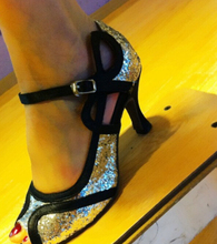 Wholesale Ladies Girls Silver Glitter  Ballroom Latin Samba Salsa Ceroc Tango Dance Shoes All Size