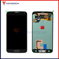 Super Amoled Original Display For Samsung Galaxy S5 G900 G900F LCD Touch Screen Digitizer Assembly Replacement With Home Button