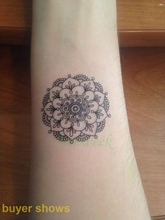 Waterproof Temporary Tattoo Sticker sexy lotus henna mandala totem tatto stickers flash tatoo fake tattoos for girl women