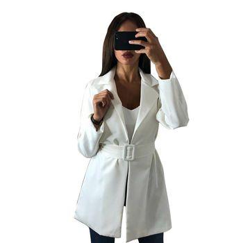 Blazer & Suits 2018 Spring Autumn Women's Blazers New Jackets for Women Suit European Style Slim Lapel Hot Blazer With Belt