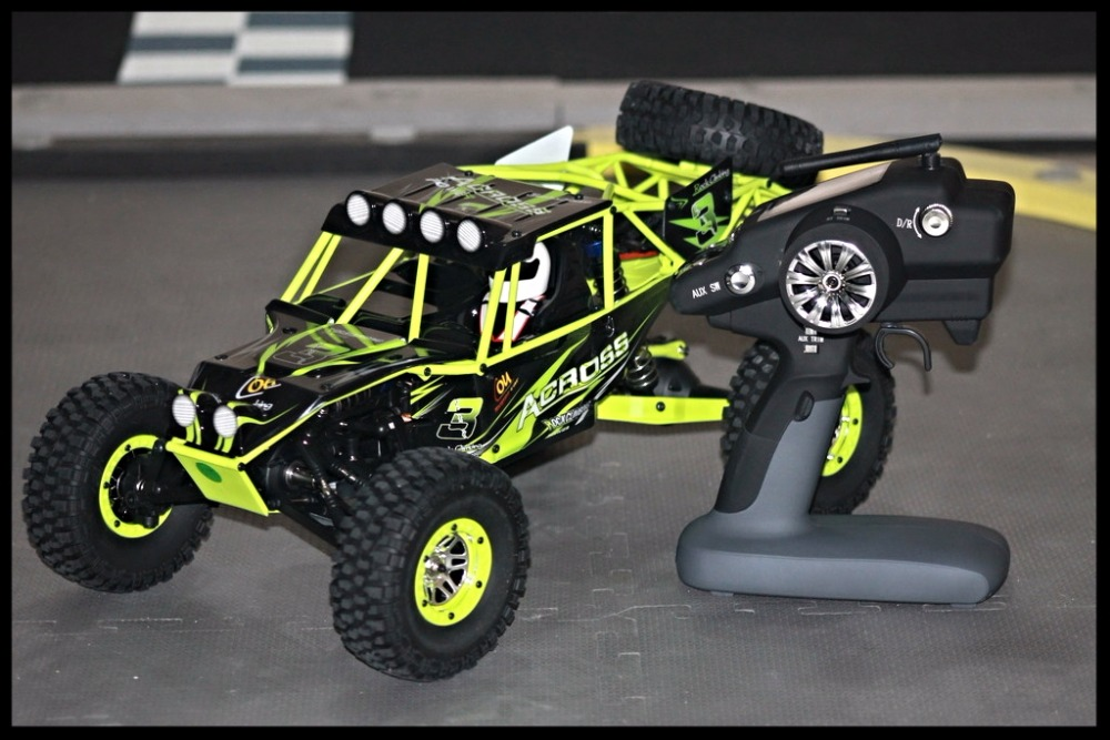 Children's toy Hot RC Car WLtoys <font><b>10428</b></font> 2.4G 1:10 Scale Double Speed Remote Radio Control Electric Wild Track Warrior Car image