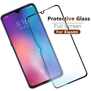 Pełna pokrywa szklana dla Xiao mi mi A3 mi 9 Cc9 CC9E mi 9se 8 A2Lite Max3 mi 9T pro ekran hartowane szkło ochronne na czerwony mi K20