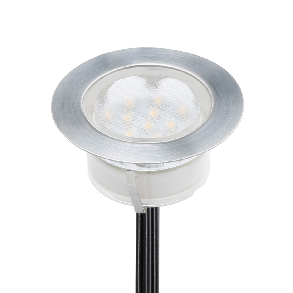 Recessed led up lamp for outdoor decoration underground led light patio dc12v 1 5w ip67 led