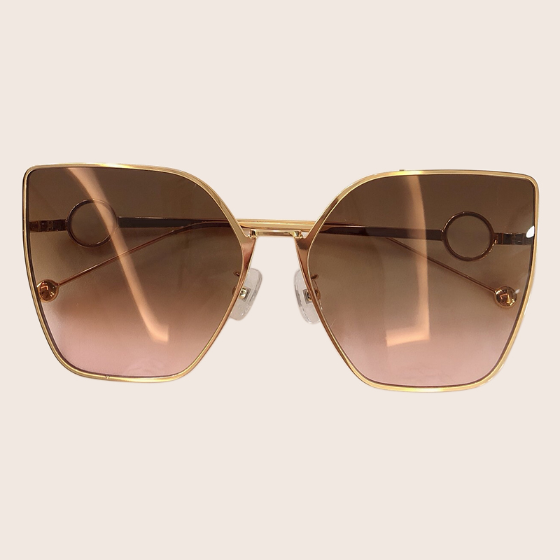 2019 New Style Square Sunglasses Elegant Women Luxury Brand Designer Metal Frame Sun Glasses Female Vintage