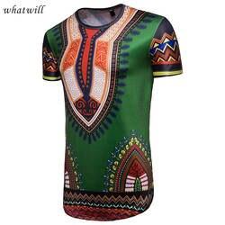 Новинка 2018 г. Модные мужские африканских Одежда Топы Дашики Африка платье одежда в стиле хип-хоп халат африканского Повседневная 3d футболка