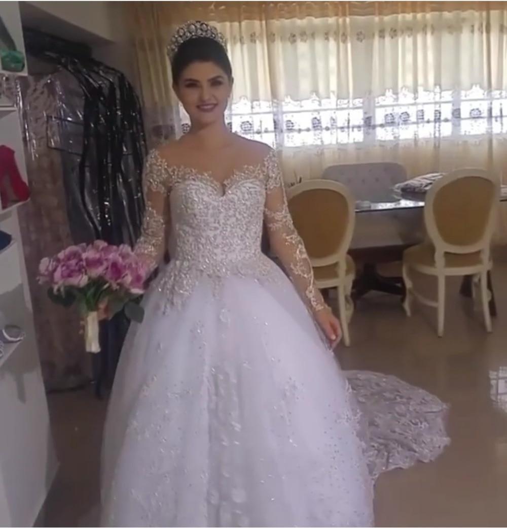 wuzhiyi luxry wedding dress  backless Empire robe de soiree illusion wedding Gown China 2018 vestido de noiva Cap Sleeves dress