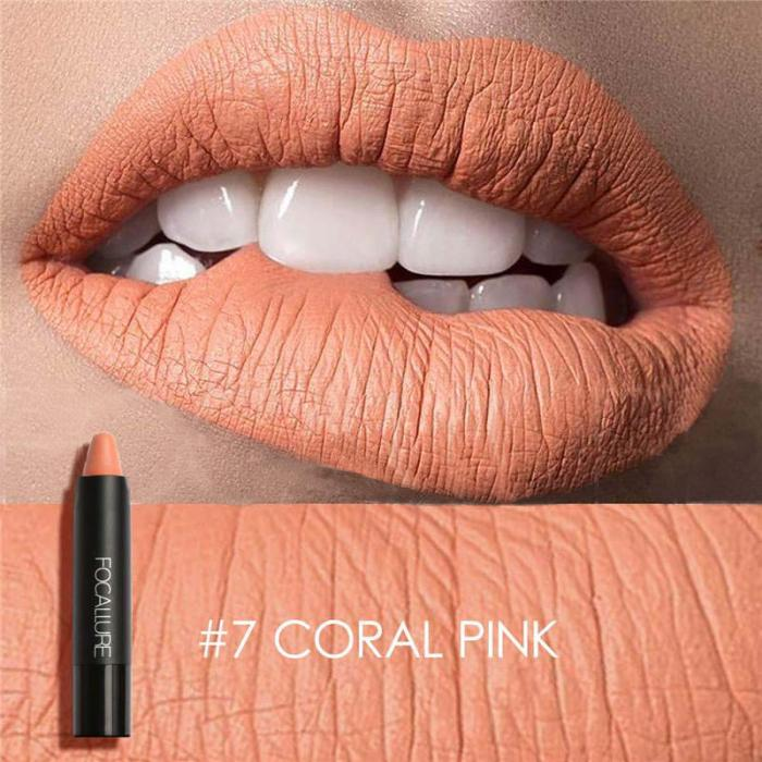 High Quality Focallure Women Matte Lipstick Pen Waterproof Long-lasting Cosmetic Nude Lady Lips Makeup Lipsticks well 14