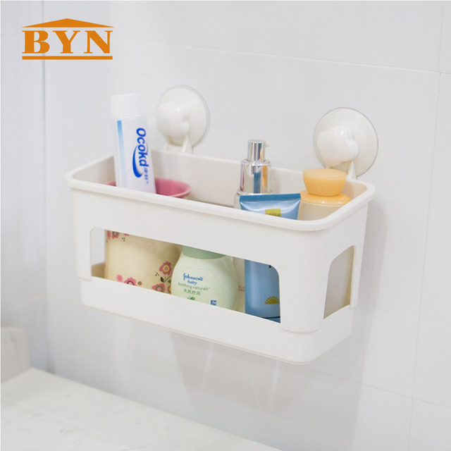 BYN Plastic Wall mounted Shower Caddy Bathroom Kitchen Rack ...