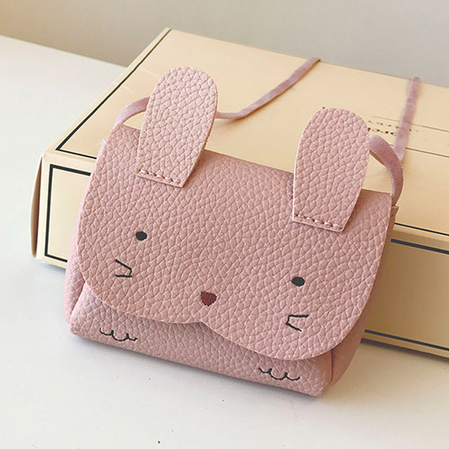 2019 New Children Kids Girl Shoulder Crossbody Bag PU Leather Rabbit Mini For Coin Money LBY2019