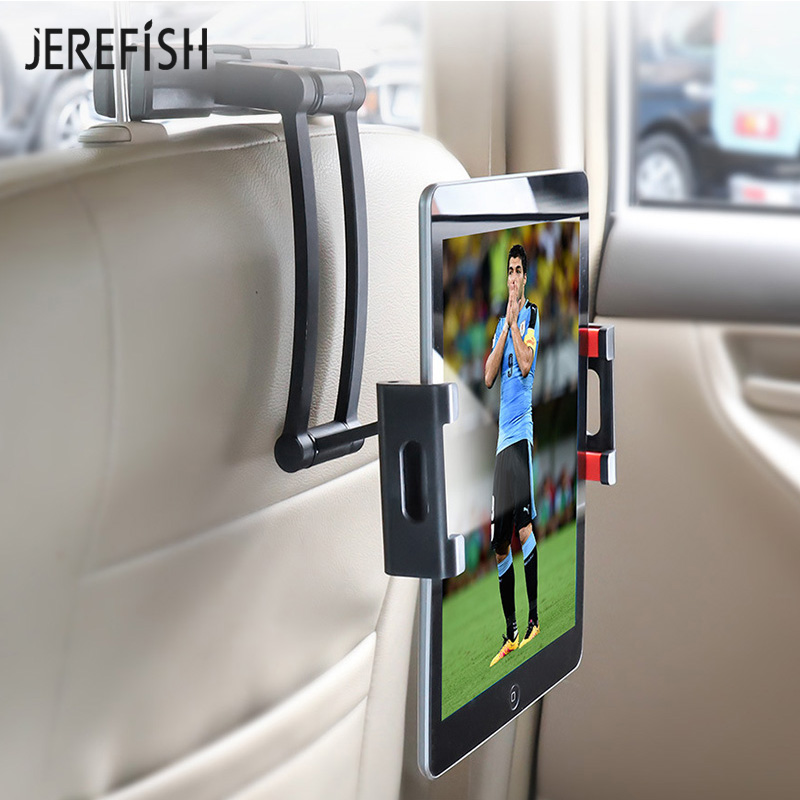 JEREFISH Car Holder Tablet PC Holding Rack For 4.7-11 Inch Pad Phone Holder Universal Car Back Seat Headrest Mount Stand Bracket