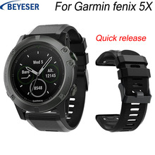 26MM Wrist strap for Garmin Fenix 5/5X Plus silicone wristband For 3/3 HR smart Replacement Quick release watchband