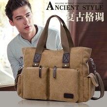 Top Qualité À La Mode hommes messenger sacs hommes voyage sac mâle épaule sac Vintage toile sacs
