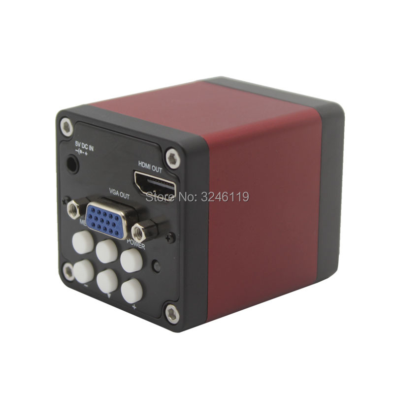 Free Shipping 2 0MP 720P 1080P Industry Microscope Video Camera HDMI VGA Outputs 30FPS C mount