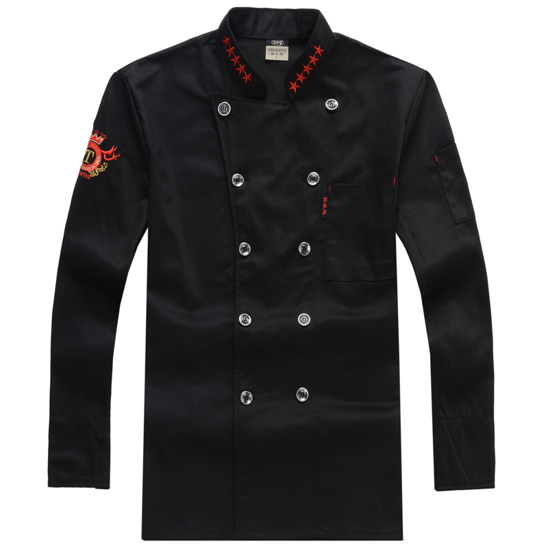 Chef Uniform Long-sleeved Work Uniforms Chef Jacket Cooks Clothing image
