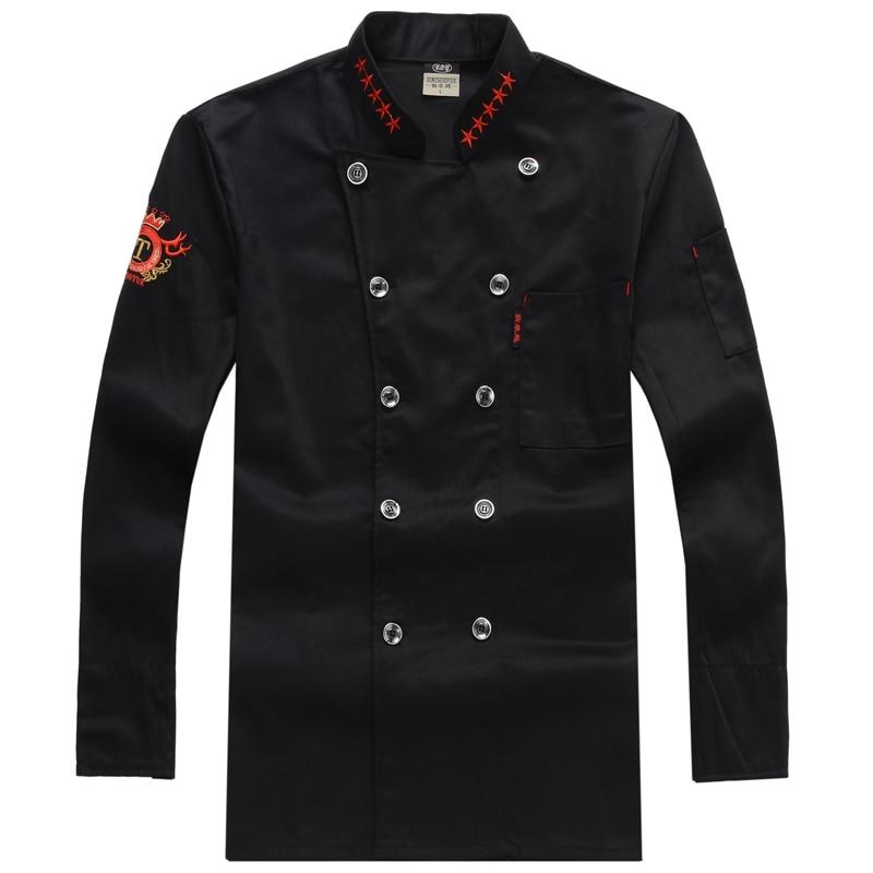 Kokkenuniform Arbejdsuniformer med langærmet Chefjakke Kokke Beklædning