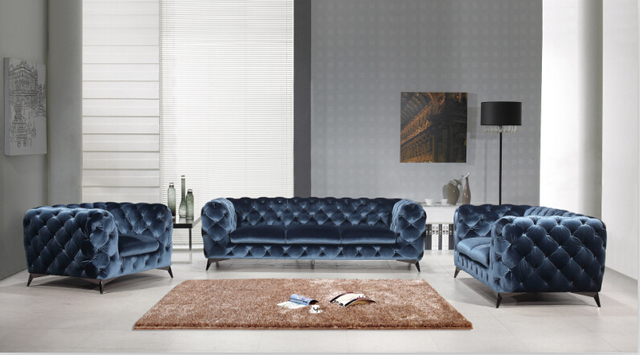 Moderne Chesterfield Banken : Chesterfield sofa sofas for living room with european style fabric