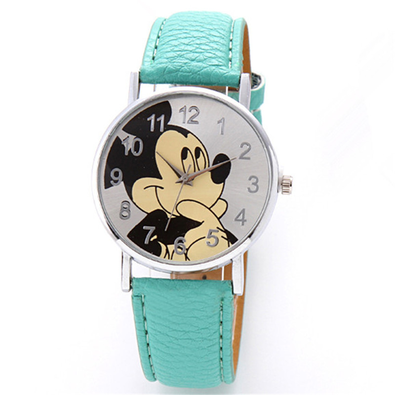 New Brand Retro Leather Women Watches Fashion Denim Cartoon Girl Quartz Watch Ladies Monkey Dial Wrist Watch Relogio Feminino Quartz Watches Watches