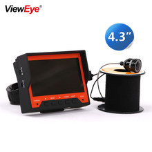 "ViewEye Original 15M 1000TVL Fish Finder Underwater Ice Fishing Camera 4.3"" LCD Monitor 8 LED Night Vision Camera For Fishing(China)"