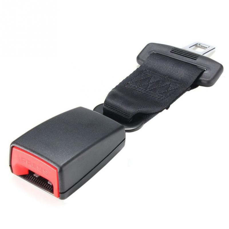 цена на Car Seat Belt Extender Safety Seatbelt 21-22mm Long-lasting Black Seatbelt Extender Car Auto D Type With Safety Buckle