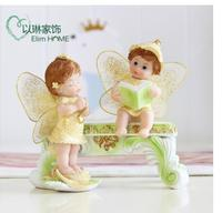 Creative swing lovely angel girl TV cabinet wine cabinet home accessories porch place wedding gifts birthday gifts
