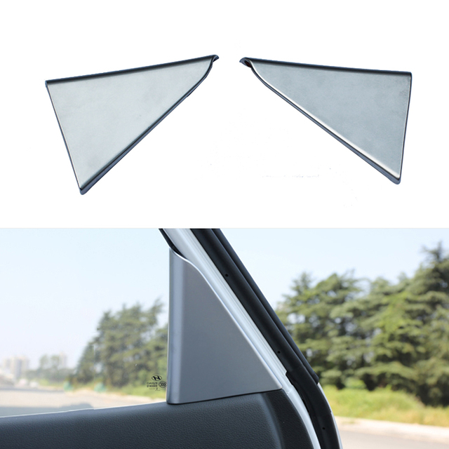 1 Pair Car Styling ABS Chrome Rear Triangle Pillar Speaker Cover Interior Bezel Frame Trim For Hyundai Tucson 3th 2015 2016