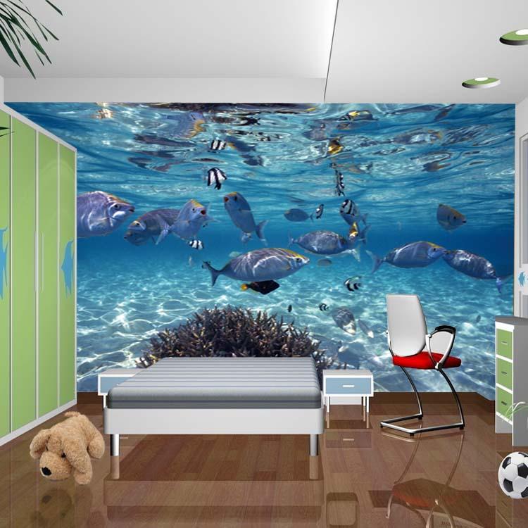 Deep Sea Fish Photo Wallpaper 3D Wall Paper Fototapete 3d Mural ...