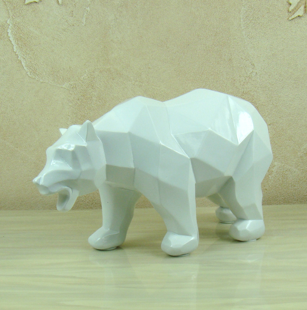 Modern Fashion Polar Bear Sculpture Dimensional Resin