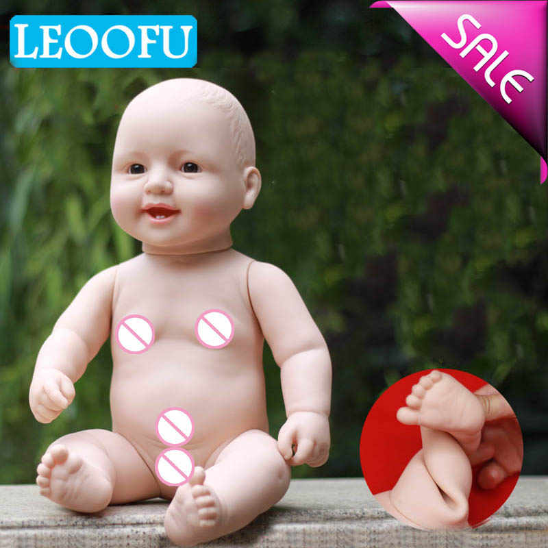 LEOOFU 41cm 17inch birthday gift bebe reborn doll new model hot sale reborn doll soft silicone vinyl real gentle touch kid toys