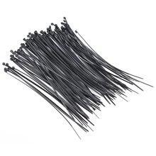 Self-ло trim wire loop нейлона zip стяжки кабельные wrap х черный