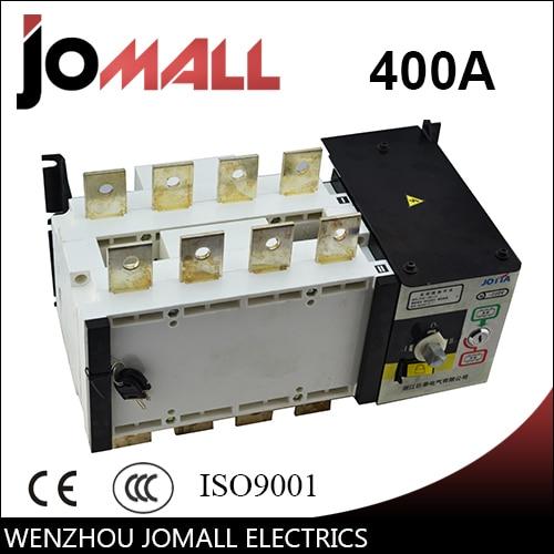 PC grade 400amp 220V/ 230V/380V/440V 4 pole 3 phase automatic transfer switch ats