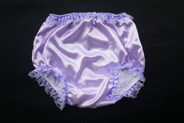 61daf8ac9 ABDL New Adult Baby Sissy Satin Frilly Diaper Cover Color purple FSP08-2