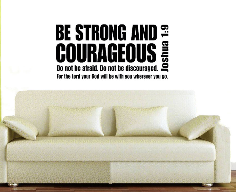 Joshua 1 9 Be Strong And Courageous Bible Verse Scripture