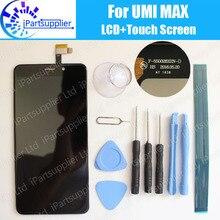 Umi מקסימום LCD תצוגה + מגע מסך 100% המקורי LCD Digitizer זכוכית פנל החלפת Umi מקס F 550028X2N