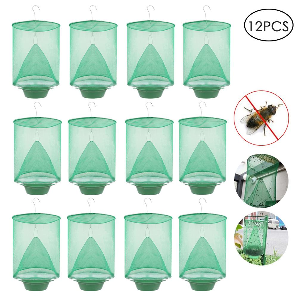 Pest Control Reusable Hanging Fly Catcher Killer Flies Flytrap Zapper Cage Net Trap Garden Home Yard OUtside Supplies