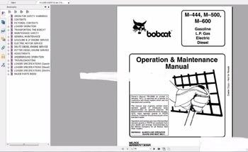 Bobcat manuales de operador conjunto completo de DVD