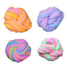 Children DIY Stress Relief Magic Multi Color Fluffy Slime Sludge Cotton Mud Kid Toy Colorful Plasticine