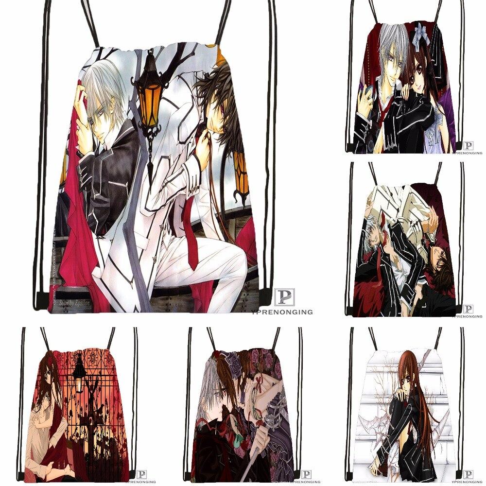 Custom Vampire.Knight.full. Drawstring Backpack Bag Cute Daypack Kids Satchel (Black Back) 31x40cm#180531-04-18