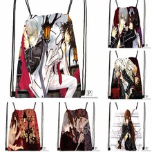 Custom Vampire.Knight.full. Drawstring Backpack Bag Cute Daypack Kids Satchel (Black Back) 31x40cm#180531-04-18
