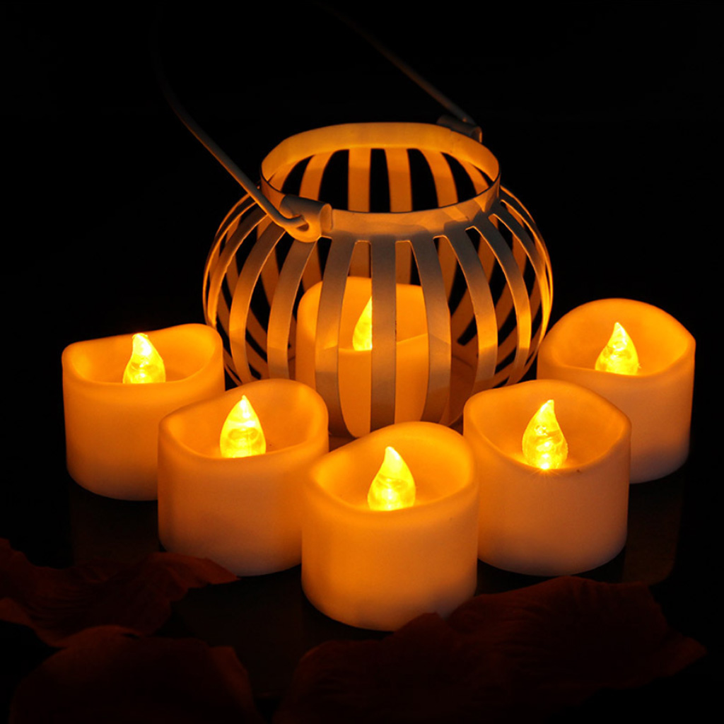 Baoblaze Electric LED Candle Flickering Flameless Tea Light Candles Wedding Decor