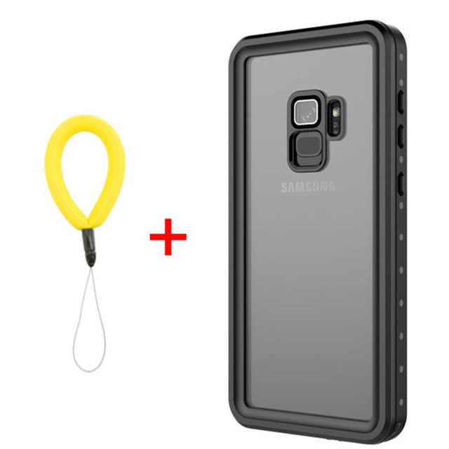 low priced 3b5c4 24bb1 Waterproof Case for Samsung Galaxy note 9 note 8 S7 edge S8 S9 Plus  Transparent Shockproof Cover For iPhone 7 8 X 6S 6 coque