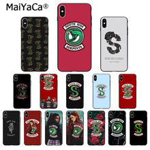 MaiYaCa Riverdale South Side Serpents Snake TPU Soft Phone Accessories Phone Case for iPhone 8 7 6 6S Plus X XS MAX 5 5S SE XR(China)