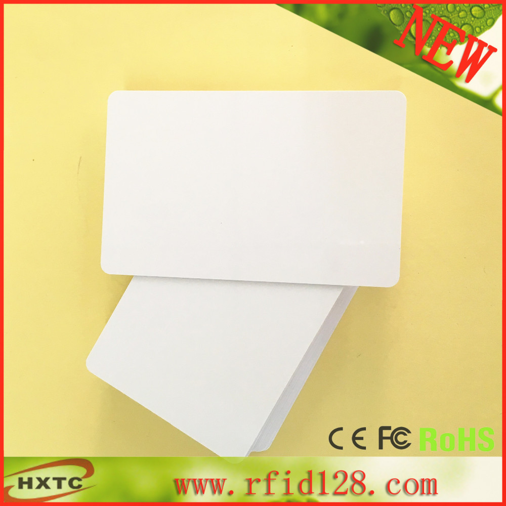 200PCS/Lot 13.56MHZ Contactless Printable RFID Smart IC Blank PVC Card With M1/S50 Chip For E pson/ C ancon Inkjet Printer 20pcs lot double direct printable pvc smart rfid ic blank white card with s50 chip for epson canon inkjet printer