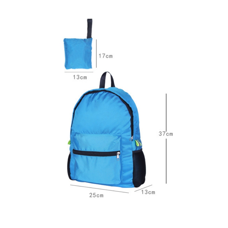 Good High Quality Outdoor Foldable Unisex Waterproof Bag Nylon Softback Backpack Huge Capacity For Hiking Cycling Portable Quick Dry